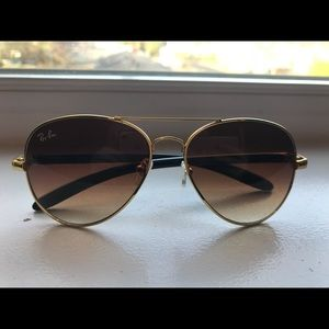 Brown/gold gradient Ray Bans